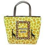Giraffe bucket bag