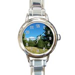 land2 Round Italian Charm Watch