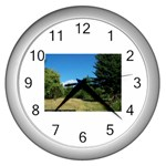 land2 Wall Clock (Silver)
