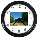 land2 Wall Clock (Black)