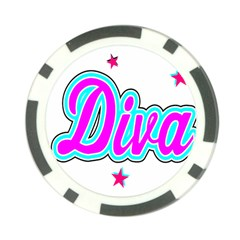 Pink Diva Poker Chip by Colorfulart23