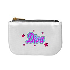 Pink Diva Coin Change Purse by Colorfulart23