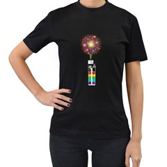 Firework Lighter Women s T Shirt (black) by Contest1753604