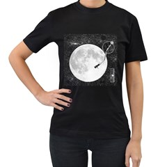 Vinyl Moon Women s T Shirt (black) by Contest1753604