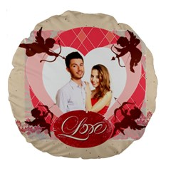 Love By Ki Ki   Large 18  Premium Round Cushion    R2yq5utr7ll9   Www Artscow Com Back