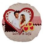 love - Large 18  Premium Round Cushion