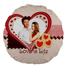 Love By Ki Ki   Large 18  Premium Round Cushion    1ljnodtotlf6   Www Artscow Com Back
