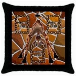 Giraffe throw pillow case, black #2 - Throw Pillow Case (Black)