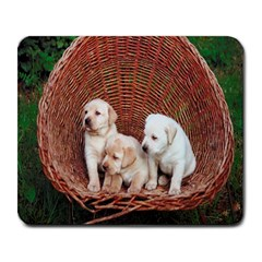 Labrador Retriever Pups Large Mousepad by DogsDesigns