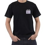 hampic - Men s T-Shirt (Black) (Two Sided)