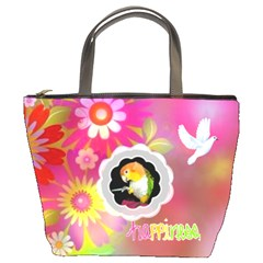 Spring Garden Bucket Bag By Joy Johns   Bucket Bag   Ds5at8ndwqt8   Www Artscow Com Front