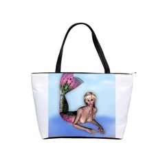 Mermaid On The Beach Large Shoulder Bag by goldenjackal