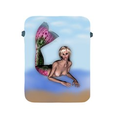 Mermaid On The Beach Apple Ipad Protective Sleeve