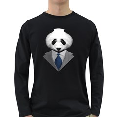 Mr  Panda Men s Long Sleeve T Shirt (dark Colored)