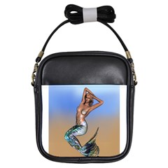Sexy Mermaid On Beach Girl s Sling Bag by goldenjackal