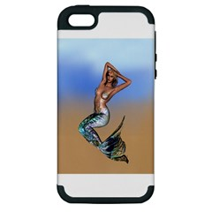 Sexy Mermaid On Beach Apple Iphone 5 Hardshell Case (pc+silicone)