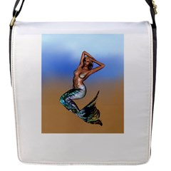 Sexy Mermaid On Beach Flap Closure Messenger Bag (small) by goldenjackal