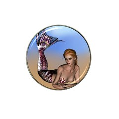 Mermaid On The Beach  Golf Ball Marker 4 Pack (for Hat Clip) by goldenjackal