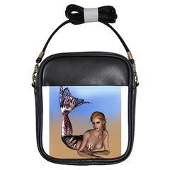 Mermaid On The Beach  Girl s Sling Bag by goldenjackal