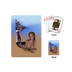 Mermaid On The Beach  Playing Cards (mini) by goldenjackal