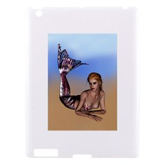 Mermaid On The Beach  Apple Ipad 3/4 Hardshell Case by goldenjackal