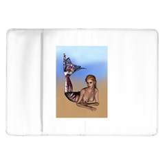 Mermaid On The Beach  Samsung Galaxy Tab 10 1  P7500 Flip Case by goldenjackal