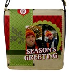 xmas - Flap Closure Messenger Bag (S)