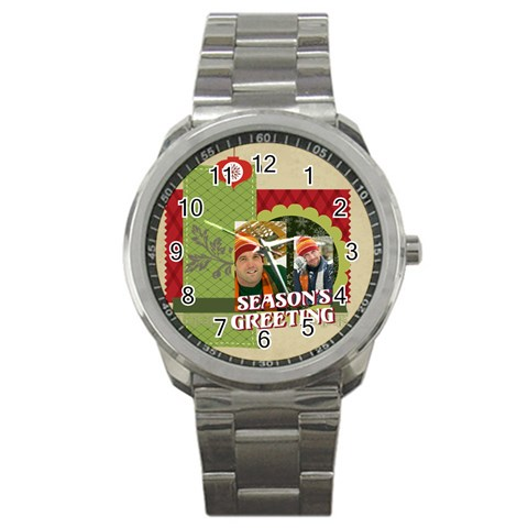 Xmas By Merry Christmas   Sport Metal Watch   T4u4eqwawbuv   Www Artscow Com Front