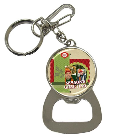 Xmas By Merry Christmas   Bottle Opener Key Chain   7qn0xlv99q4r   Www Artscow Com Front