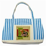 xmas - Striped Blue Tote Bag