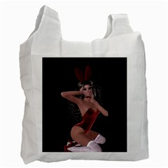 Miss Bunny In Red Lingerie Recycle Bag (two Sides)