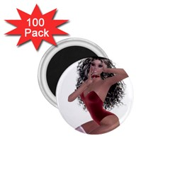 Miss Bunny In Red Lingerie 1 75  Button Magnet (100 Pack) by goldenjackal