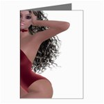 Miss Bunny in red lingerie Greeting Card (8 Pack)
