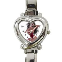 Miss Bunny In Red Lingerie Heart Italian Charm Watch