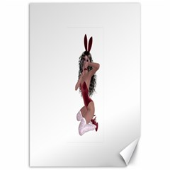 Miss Bunny In Red Lingerie Canvas 20  X 30  (unframed) by goldenjackal