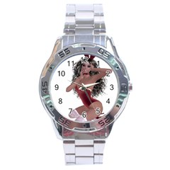 Miss Bunny In Red Lingerie Stainless Steel Watch