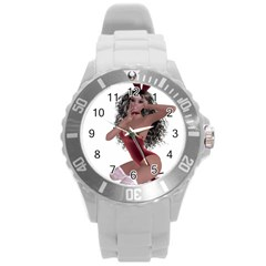 Miss Bunny In Red Lingerie Plastic Sport Watch (large) by goldenjackal