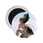 Fairy Sitting On A Mushroom 2.25  Button Magnet Front
