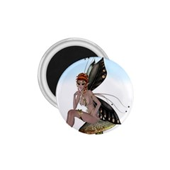 Fairy Sitting On A Mushroom 1 75  Button Magnet by goldenjackal
