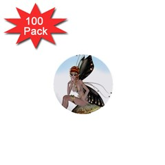 Fairy Sitting On A Mushroom 1  Mini Button (100 Pack) by goldenjackal