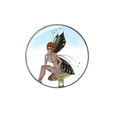 Fairy Sitting On A Mushroom Golf Ball Marker (for Hat Clip) by goldenjackal