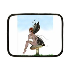 Fairy Sitting On A Mushroom Netbook Sleeve (small) by goldenjackal