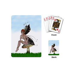 Fairy Sitting On A Mushroom Playing Cards (mini) by goldenjackal