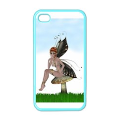 Fairy Sitting On A Mushroom Apple Iphone 4 Case (color) by goldenjackal