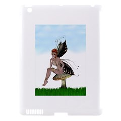 Fairy Sitting On A Mushroom Apple Ipad 3/4 Hardshell Case (compatible With Smart Cover) by goldenjackal