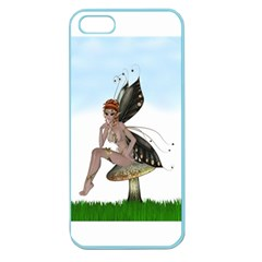 Fairy Sitting On A Mushroom Apple Seamless Iphone 5 Case (color) by goldenjackal