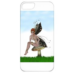 Fairy Sitting On A Mushroom Apple Iphone 5 Classic Hardshell Case by goldenjackal