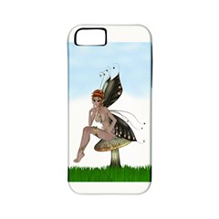 Fairy Sitting On A Mushroom Apple Iphone 5 Classic Hardshell Case (pc+silicone) by goldenjackal