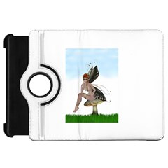 Fairy Sitting On A Mushroom Kindle Fire Hd 7  (1st Gen) Flip 360 Case by goldenjackal