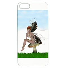 Fairy Sitting On A Mushroom Apple Iphone 5 Hardshell Case With Stand by goldenjackal